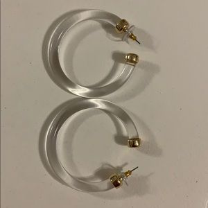 Clear resin hoops